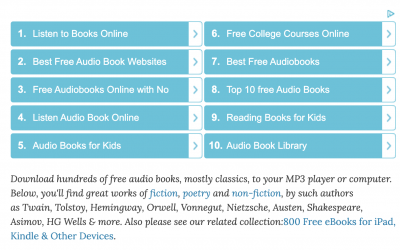 1,000 Free Audio Books