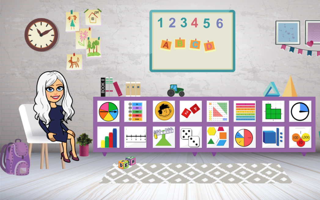 Bitmoji Math Manipulatives Classroom